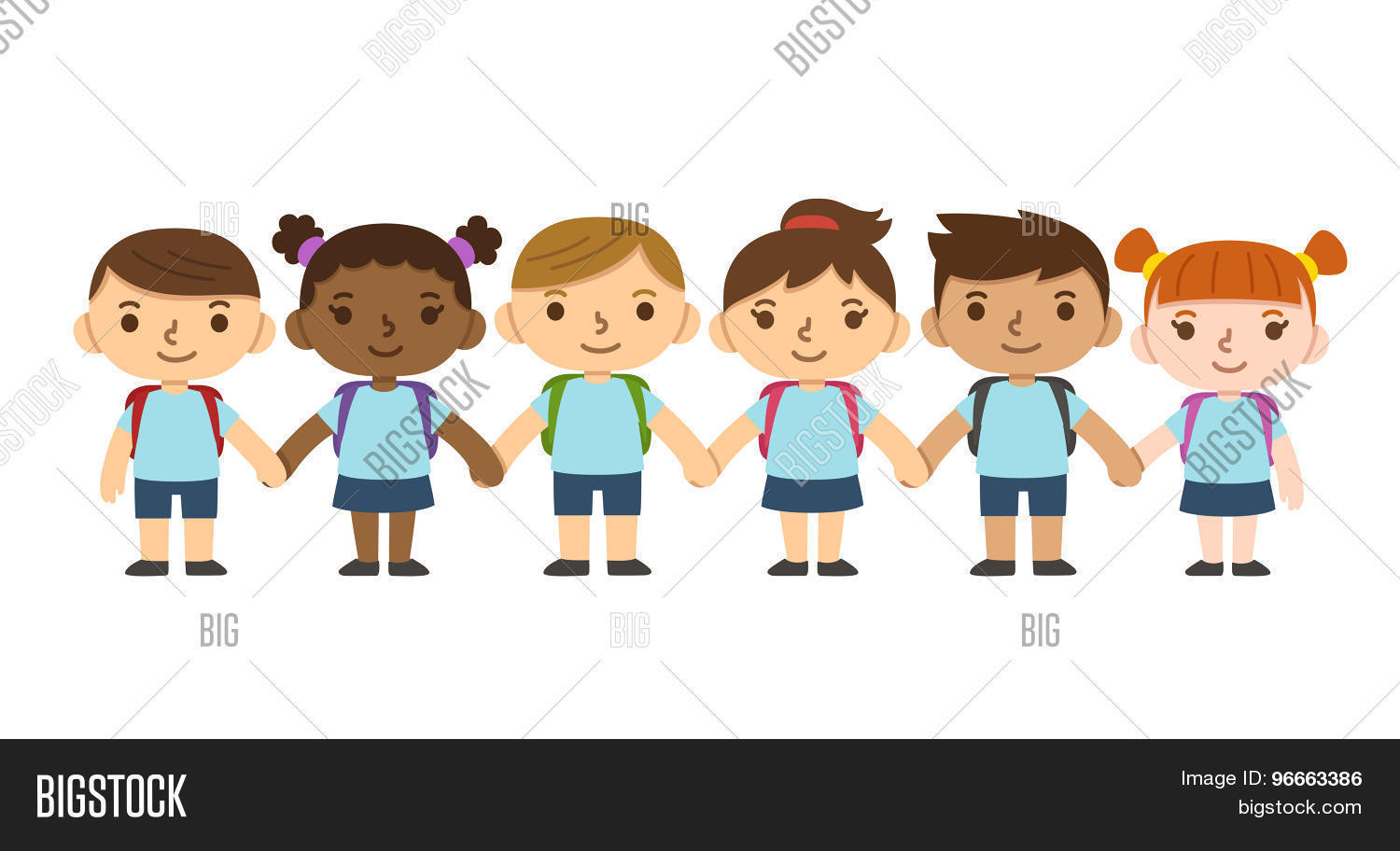 Cartoon School Children Vector Amp Photo Bigstock