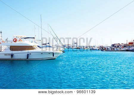 Yachts parking in the Limassol Marina