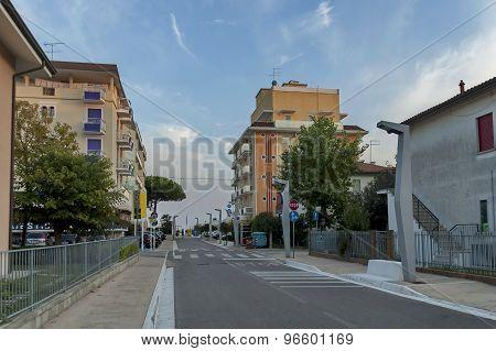 Lido di Jesolo street to sea beach