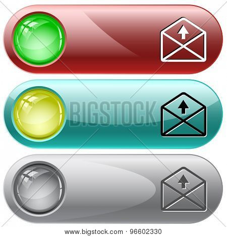 mail up arrow. Vector internet buttons.