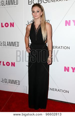 LOS ANGELES - MAY 7:  Mollee Gray at the NYLON Magazine Young Hollywood Issue Party  at the HYDE Sunset on May 7, 2015 in West Hollywood, CA