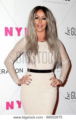LOS ANGELES - MAY 7:  Aubrey O'Day at the NYLON Magazine Young Hollywood Issue Party  at the HYDE Sunset on May 7, 2015 in West Hollywood, CA
