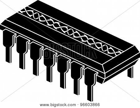 Stencil Of Chip With Pattern