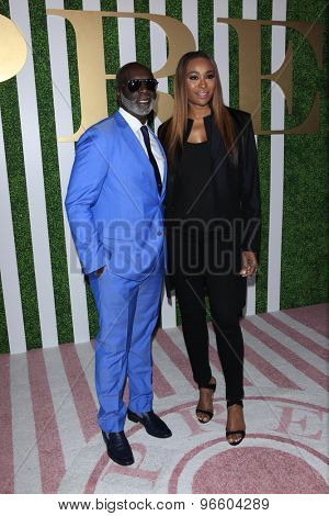 LOS ANGELES - JUN 24:  Peter A. Thomas, Cynthia Bailey at the 2015 BET Awards Pre-Dinner at the Sunset Tower Hotel on June 24, 2015 in Los Angeles, CA