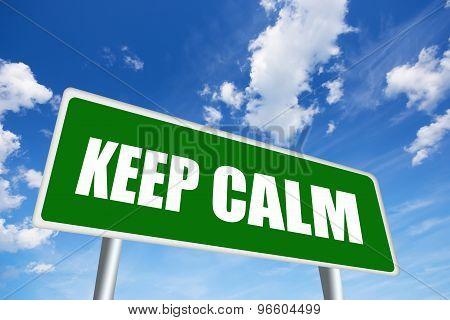 Keep calm road sign