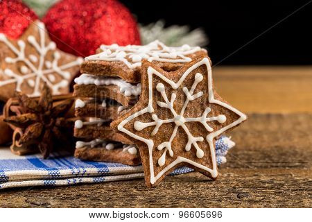 Christmas Decoration With Gingerbread Cookies