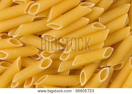Dried Penne Pasta Background