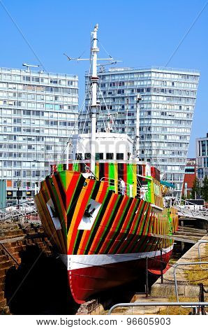 Dazzle Ship, Liverpool.