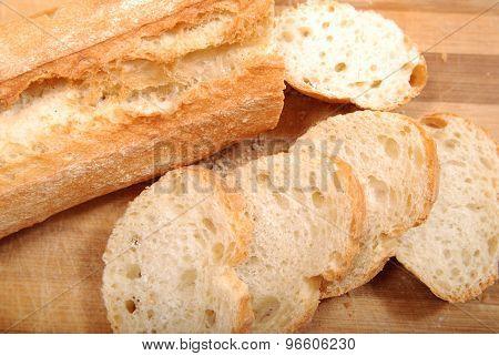 White wheat bread on a cutting board