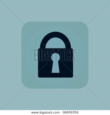 Pale blue locked icon