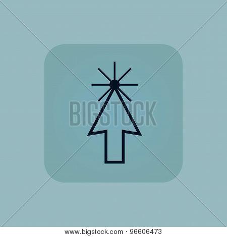 Pale blue arrow cursor icon