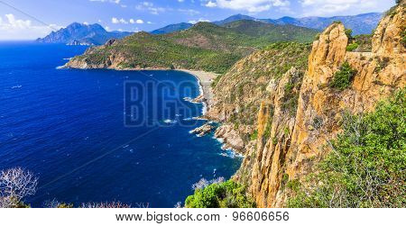beautiful landscapes of Corsica island