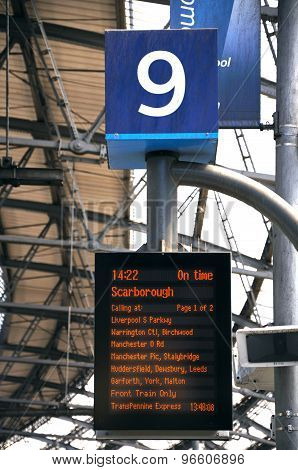 Lime Street Railway Destination Board.