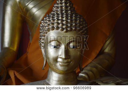 Buddha smiling face