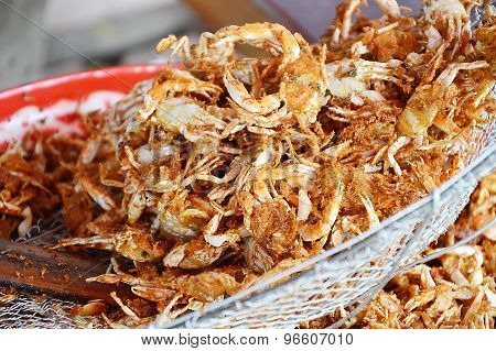fried swimming crab