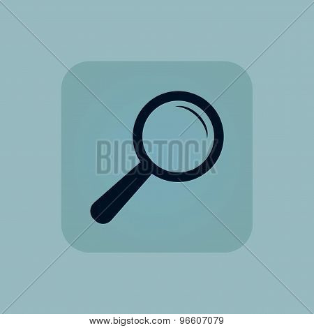 Pale blue search icon