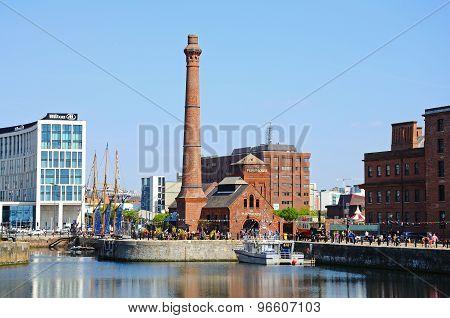 Pumphouse and Albert Dock, Liverpool.