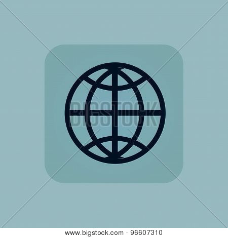 Pale blue globe icon