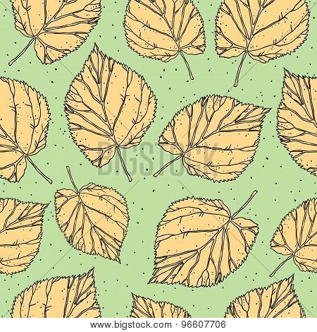 Vintage vector foliage and leaf seamless pattern