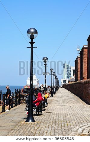 Albert Dock Waterfront, Liverpool.