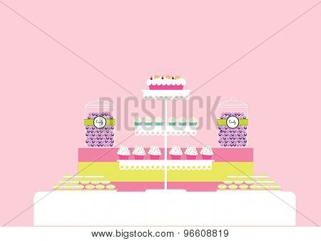 Vector Illustration Of Candy Bar