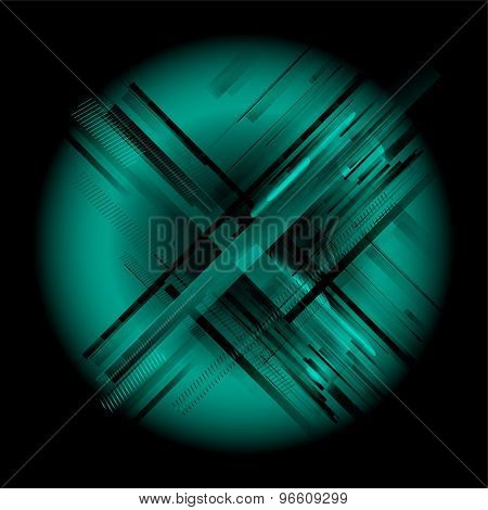 Abstract black blue background