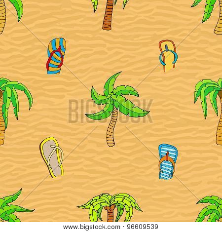 Summer Related Seamless Pattern