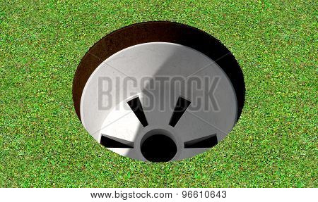 Golf Hole And Green