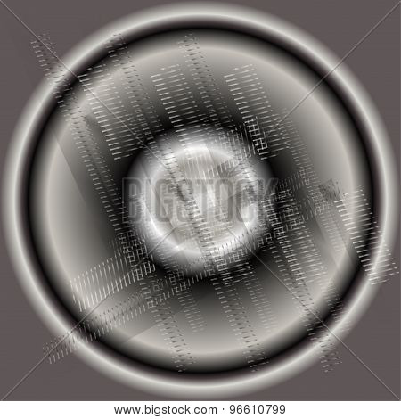 Abstract circle black and white background