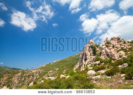 Natural Landscape Of Corsica Island, Mountains