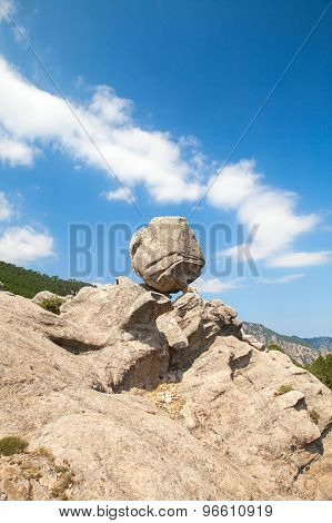 Round Stone On Top Of The Mountain, Corsica
