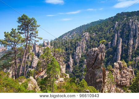Natural Landscape Of Corsica Island