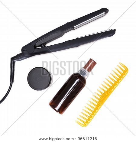 Cosmetics And Accessories For Hair Styling