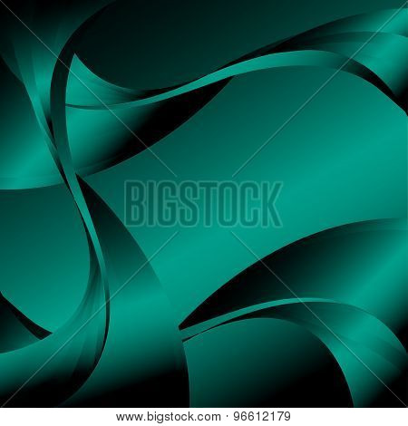 Abstract curve dark green background
