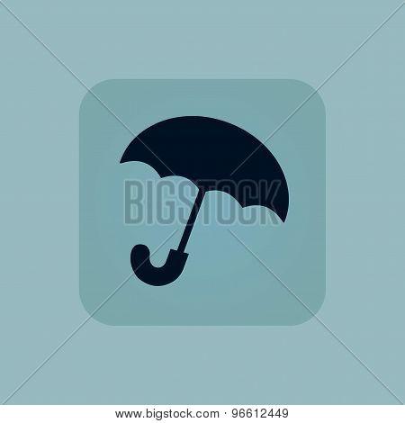 Pale blue umbrella icon
