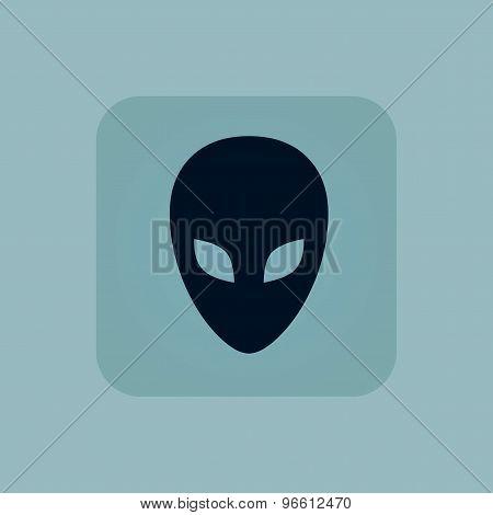 Pale blue alien icon