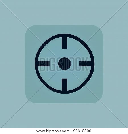 Pale blue target icon