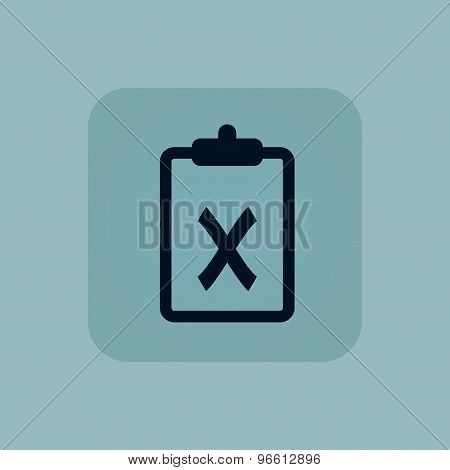 Pale blue clipboard NO icon