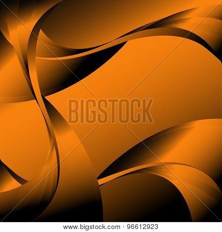 Abstract curve dark orange background