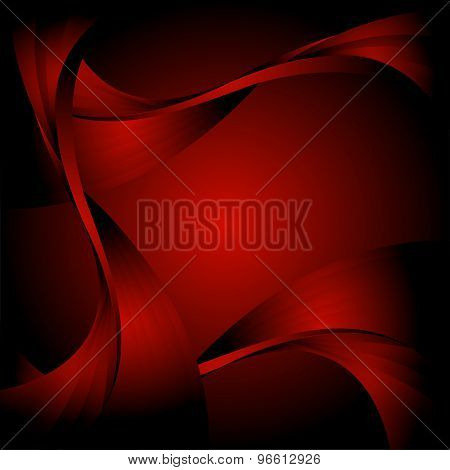 Abstract curve dark red background
