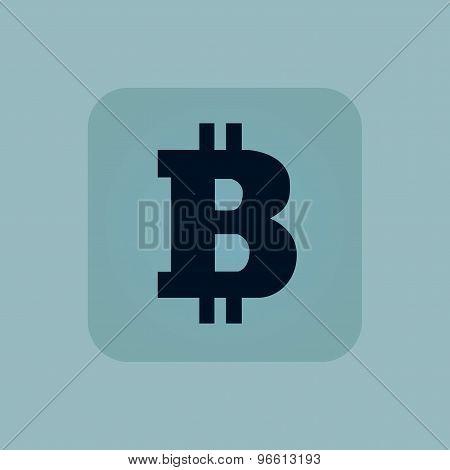 Pale blue bitcoin icon