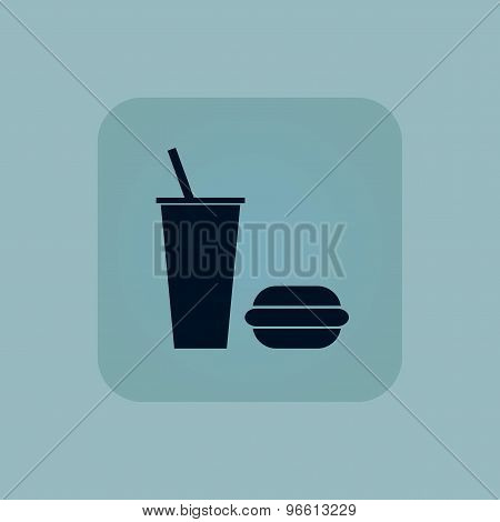 Pale blue fast food icon