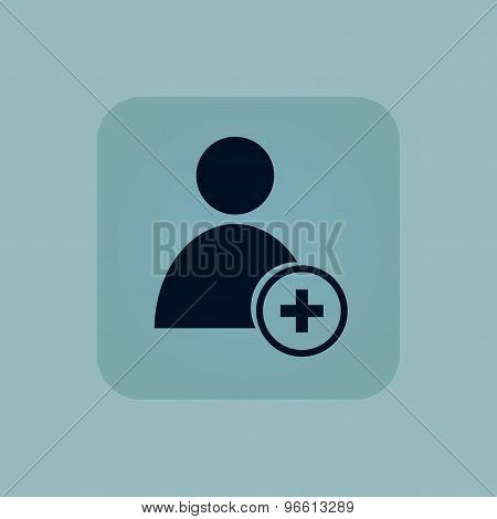 Pale blue add user icon