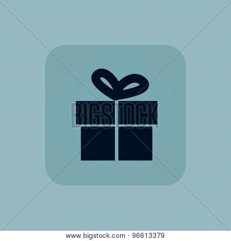 Pale blue gift icon