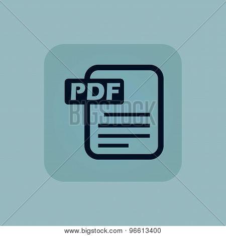 Pale blue PDF file icon