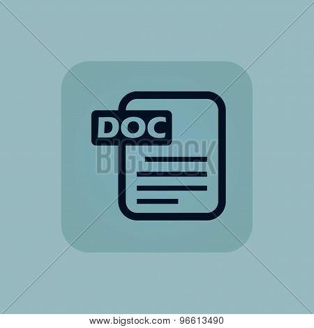 Pale blue DOC file icon