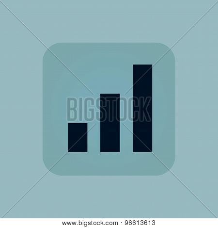 Pale blue volume scale icon