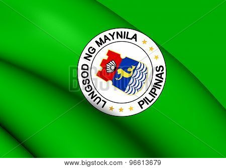 Flag Of Manila, Philippines.