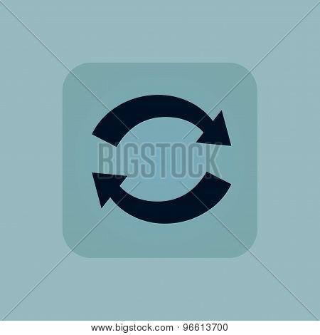 Pale blue exchange icon