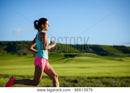 Woman Training Trail Running